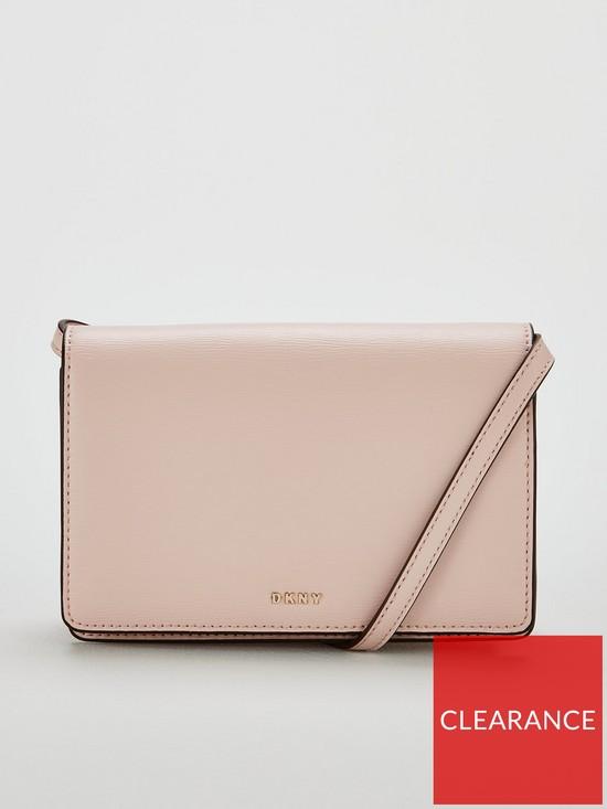 905d39680 DKNY Bryant Sutton Small Flap Crossbody Bag - Blush | very.co.uk