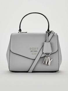 DKNY Paige Pebble Top Handle Satchel Bag - Grey 0fa2cb20ad