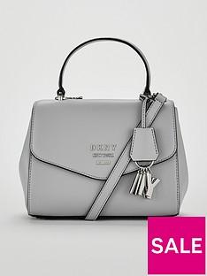 dkny-paige-pebble-top-handle-satchel-bag-grey