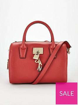 dkny-elissa-top-zip-lock-key-satchel-bag-red
