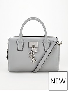 dkny-elissa-top-zip-satchel-bag-grey
