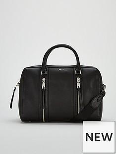 dkny-tompson-top-zip-satchel-bag-black