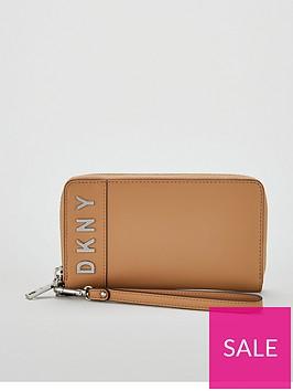 dkny-bedford-wristletnbspzipper-logo-pouch-purse-brown