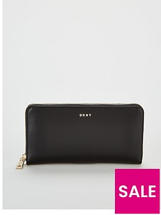 dkny-bryant-large-zip-around-purse-blackgoldnbsp