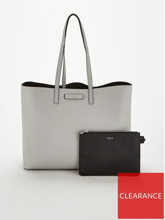 148dac71e66ce DKNY Brayden Large Reversible Tote Bag - Black/Grey | very.co.uk