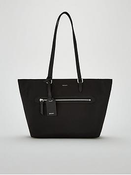 dkny-casey-medium-tote-bag-blacksilver