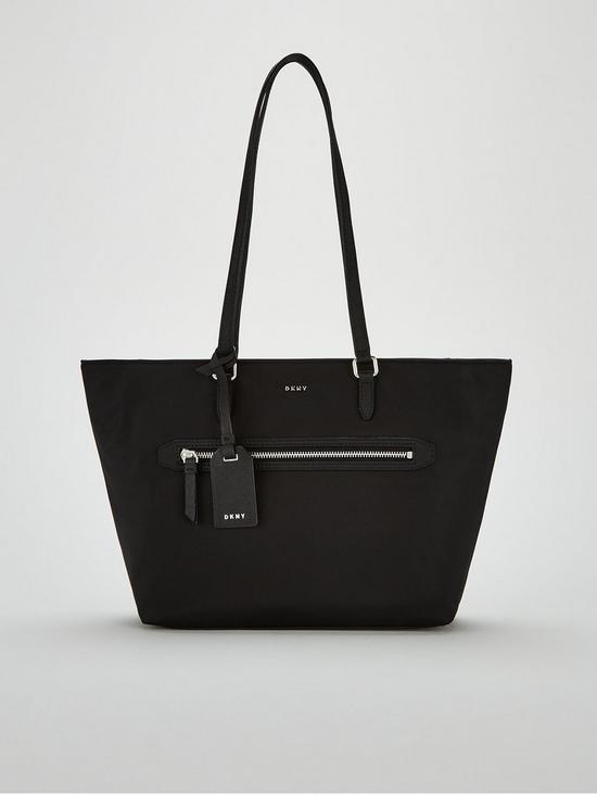 DKNY Casey Medium Tote Bag - Black Silver  9e19ffd9bab27