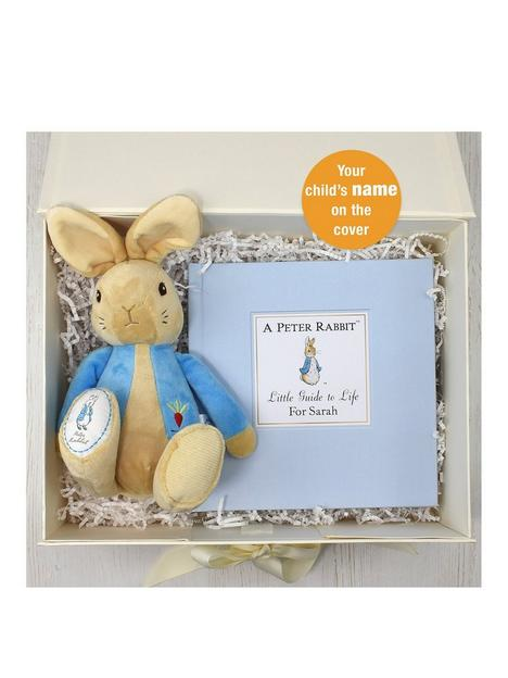 signature-gifts-personalised-peter-rabbit-guide-to-life-plush-toy-gift-set