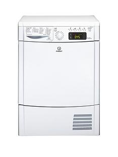 Indesit Ecotime IDCE8450BH 8kg Load Sensor Condenser Tumble Dryer - White