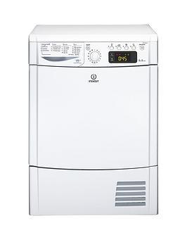 Indesit Ecotime Idce8450Bh 8Kg Load Sensor Condenser Tumble Dryer - White
