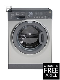 Hotpoint Aquarius WDAL8640G 8kg Wash, 6kg Dry, 1400 Spin Washer Dryer - Graphite