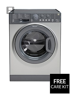 Hotpoint Aquarius WDAL8640G 8kg Wash, 6kg Dry, 1400 Spin Washer Dryer - Graphite
