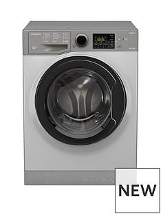 Hotpoint Aquarius FDL9640G 9kg Wash, 6kg Dry, 1400 Spin Washer Dryer - Graphite