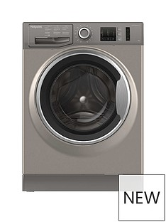 Hotpoint Active Care NM10844GS 8kg Load, 1400 Spin Washing Machine - Graphite