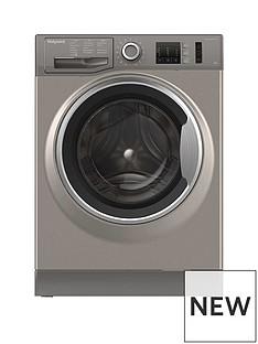 Hotpoint NM10844GS 8kg Load, 1400 Spin Washing Machine - Graphite
