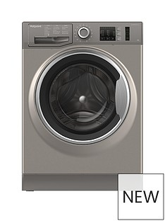 Hotpoint Active Care NM10944GS 9kg Load, 1400 Spin Washing Machine - Graphite
