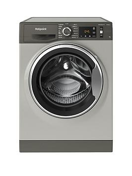 Hotpoint Active Care Nm11946Gca 9Kg Load, 1400 Spin Washing Machine - Graphite