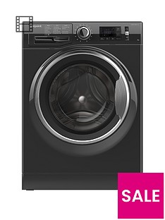 Hotpoint Active Care NM11946BCA 9kg Load, 1400 Spin Washing Machine - Black