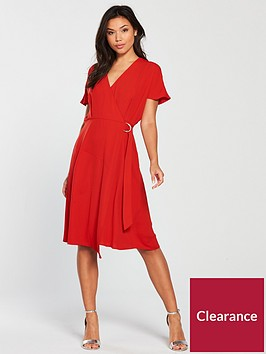 warehouse-crepe-wrap-dress-red