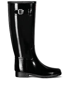 hunter-original-refined-gloss-wellington-boots-black