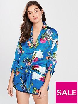river-island-river-island-print-tie-front-pyjama-shirt-blue
