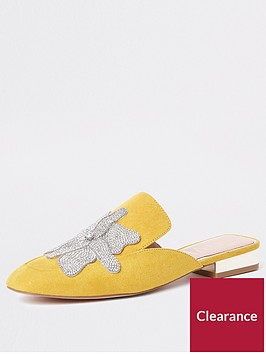river-island-river-island-embellished-slip-on-shoes-yellow
