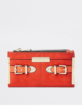 river-island-river-island-buckle-detail-foldout-purse-orange