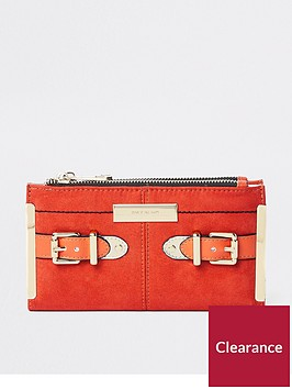 river-island-river-island-buckle-detail-foldout-purse-orange