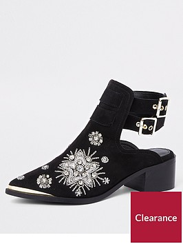 river-island-river-island-embellished-western-backless-boot-black