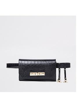 river-island-river-island-black-croc-buckle-bum-bag-black
