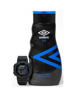 umbro-mens-400ml-body-wash-amp-watch-gift-set