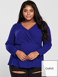 v-by-very-curve-wrap-front-detail-blouse-bluenbsp