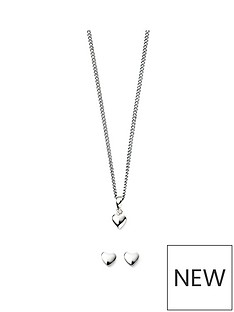 the-love-silver-collection-sterling-silver-little-heart-children039s-necklace-amp-earrings-set
