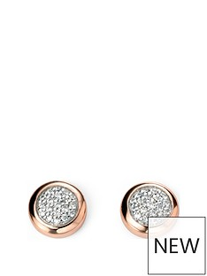 the-love-silver-collection-rose-gold-plated-sterling-silver-amp-cubic-zirconia-cluster-pendant-necklace-amp-earrings-set