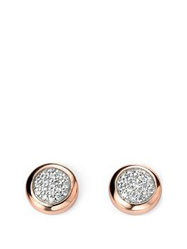 the-love-silver-collection-rose-gold-plated-sterling-silver-cubic-zirconia-cluster-pendant-necklace-earrings-set