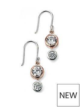 the-love-silver-collection-rose-gold-plated-sterling-silver-amp-cubic-zirconia-drop-pendant-necklace-amp-earrings-set