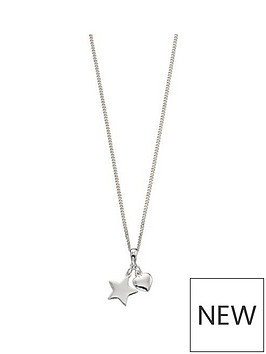 the-love-silver-collection-sterling-silver-heart-amp-star-pendant-children039s-necklace