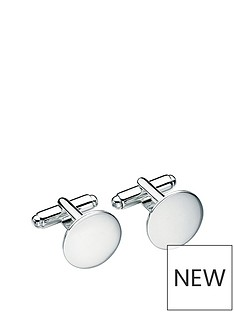 the-love-silver-collection-sterling-silver-round-cufflinks-with-optional-personalisation