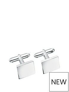 the-love-silver-collection-sterling-silver-square-cufflinks-with-optional-personalisation