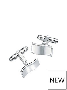 the-love-silver-collection-sterling-silver-wave-cufflinks