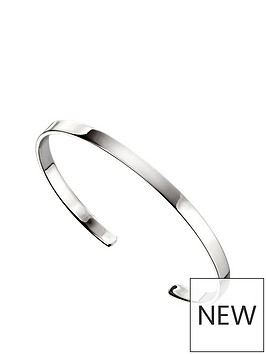 the-love-silver-collection-sterling-silver-plain-torque-bangle