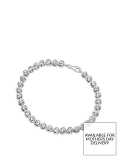 the-love-silver-collection-sterling-silver-cubic-zirconia-tennis-bracelet