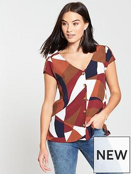 wallis-colour-block-shell-blouse-ginger
