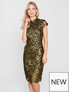 phase-eight-janie-foil-print-lace-dress-blackgoldnbsp