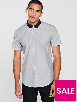 v-by-very-short-sleeve-penny-round-collar-shirt--nbspgrey