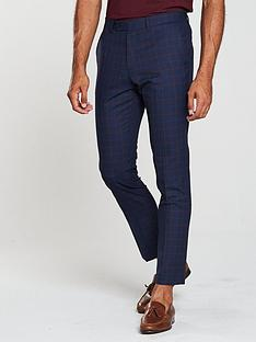 v-by-very-slim-check-suit-trousers