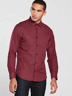 v-by-very-cut-away-collar-textured-shirt-burgundy