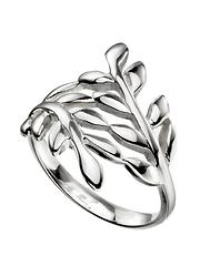 296eefc458 The Love Silver Collection Sterling Silver Wrap Over Leaf Ring
