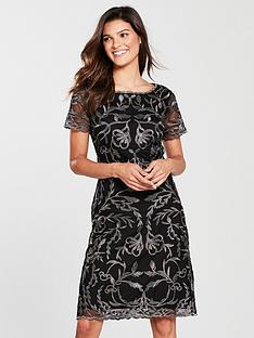 phase-eight-alannah-embroidered-mesh-dress-blackgunmetal