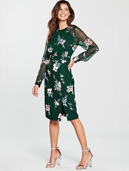 Phase Eight Abrianna Print Dress - Forest